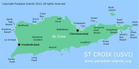 map of st croix islands www paradise islands org usvi images