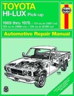 Haynes Repair Manual For Toyota Hi Lux And Hi Ace Pick Ups
