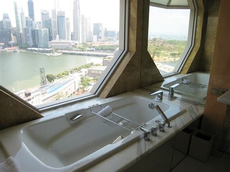 singapore hotel with bathtub ritz carlton millenia singapore hotel review
