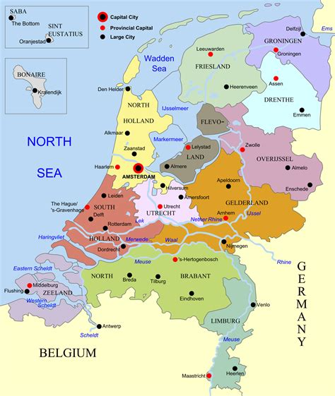 netherlands map images administrative map of netherlands netherlands