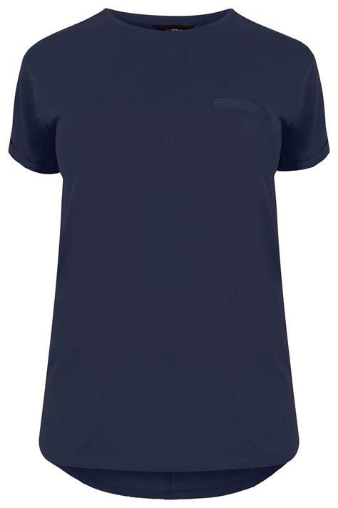 Tshirt Circle C3 t shirt navy bleu ourlet arrondi taille 42 224 64