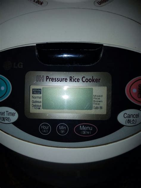 Rice Cooker Lg lg pressure rice cooker warmer electronics in garden