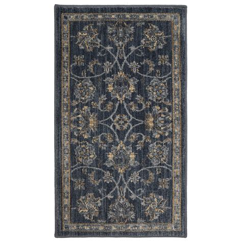 allen rugs shop allen roth isburg denim rectangular indoor woven throw rug common 2 x 4 actual 2 1 ft