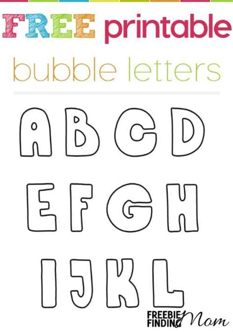 printable bubble letters free free printable bubble letters