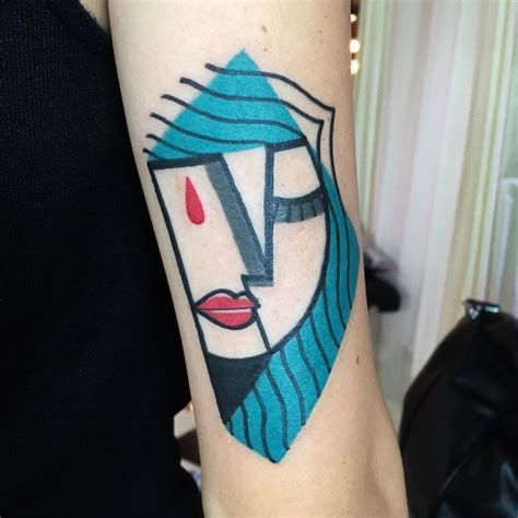 picasso tattoo mike boyd creates picasso inspired tattoos with bright