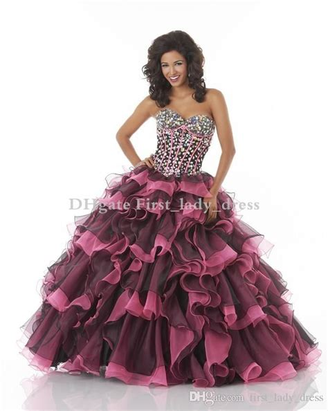 Pink Mix Black Dress 27379 17 best images about quinceanera dresses on