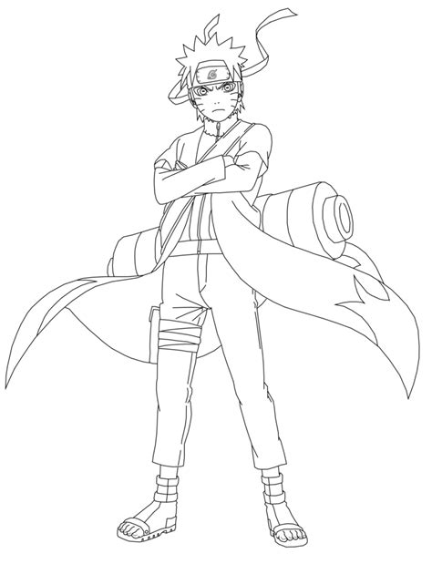 Naruto Sage Mode Coloring Pages - Coloring Home