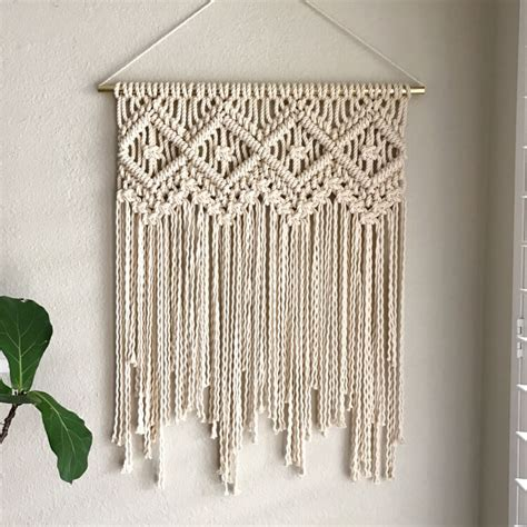 Macrame Wall Hanging Tutorial - 11 modern macrame patterns happiness is