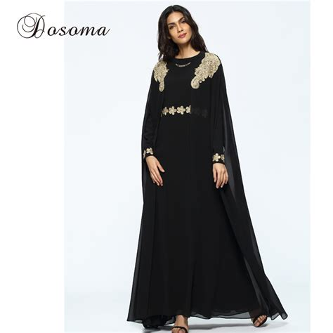 muslim dresses with embroidery muslim embroidery maxi dress cloak chiffon abaya long