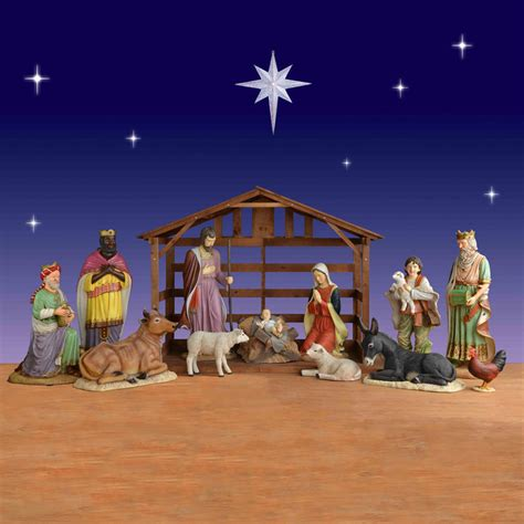 where to get life nativity set 12 size creche christmasnightinc