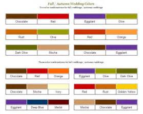 fall color schemes autumn wedding colors and ideas budget brides guide a