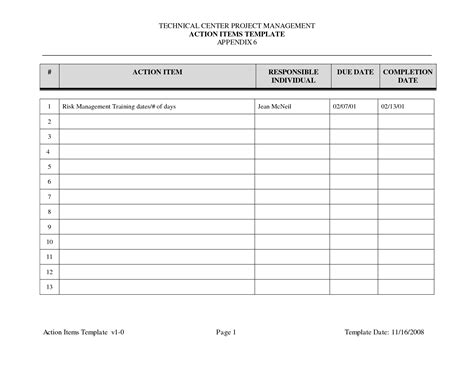 meeting minutes project template