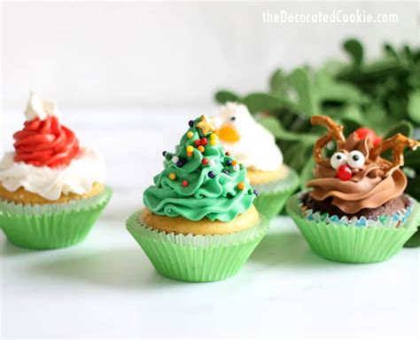 christmas cupcake ideas four ideas with one decorating