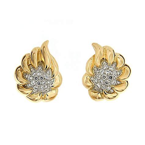 gold fireball earrings at 1stdibs