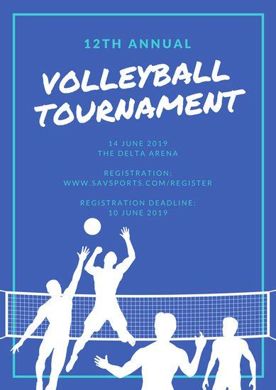 printable volleyball invitations sle invitation letter volleyball tournament gallery