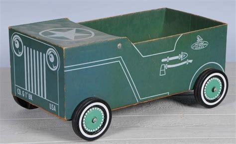 jeep box car cardboard boxcar jeep pedal car