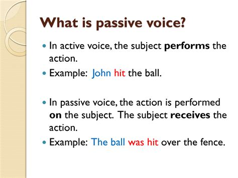business letter passive voice or active voice passive voice ingles cus ort