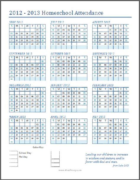printable   attendance tracker printable printable calendar