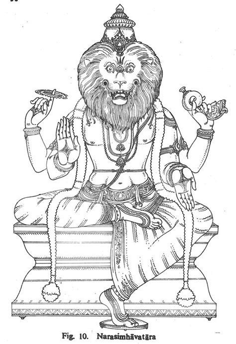 coloring pages of indian gods narasimhavatara hindu gods coloring book pinterest