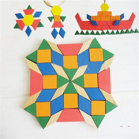 mosaic pattern puzzles wooden mosaic educational puzzle with 250 pattern blocks