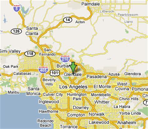 california map glendale glendale california map