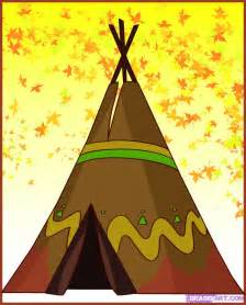 Curtains For A Big Window How To Draw A Teepee Step By Step Buildings Landmarks