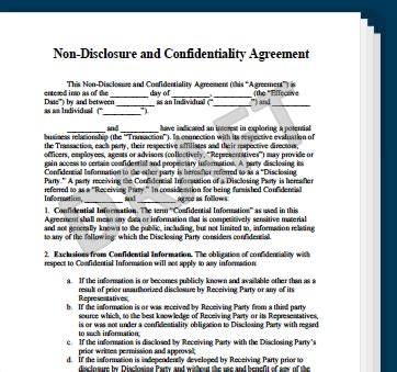 Non Disclosure Agreement Template Create A Free Nda Form Legal Templates Non Disclosure Agreement Template New York