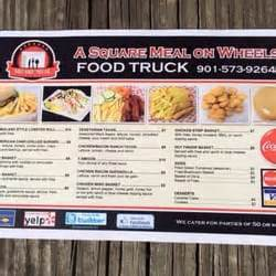 Truck Driving On Square Wheels A Square Meal On Wheels Mobile Food Truck Olive Branch