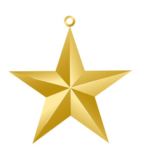 printable christmas star decoration christmas gold star ornament png picture christmas clip