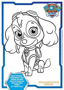 free printable paw patrol coloring pages free paw patrol sky coloring pages