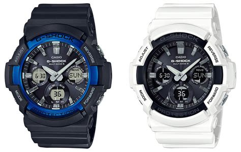 G Shock Black Blue List White g shock gaw 100b gas 100b black blue and white black g