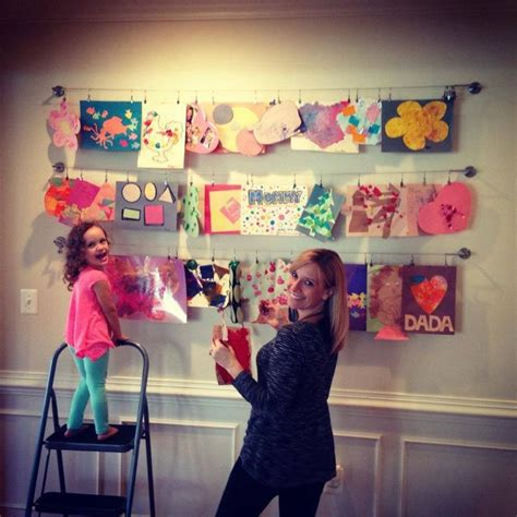 hanging kids artwork hang kids artwork and photos playroom pinterest