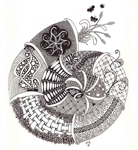 zentangle pattern enyshou zen schnecke 001 by mareike eggers art and design stuff
