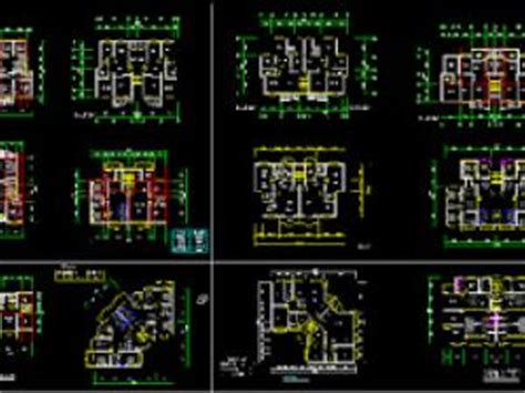Different Types Of Floor Plans plan autocad pour diff 233 rents types d appartements dwg par