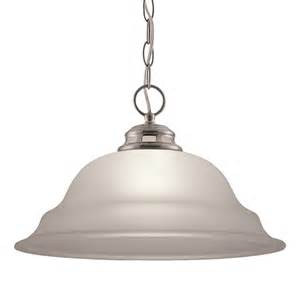 pendant light brushed nickel shop project source fallsbrook 15 in w brushed nickel