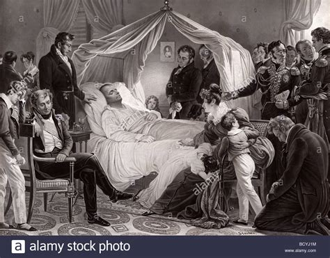 death bed napoleon 1st on his death bed on st helene may 5 1821