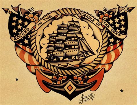 traditional navy tattoos sailor jerry tattoos be cause style travel