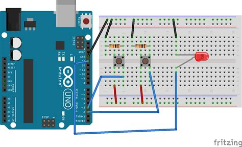 cara membuat drone dengan arduino flip flop dengan 2 push button do it yourself