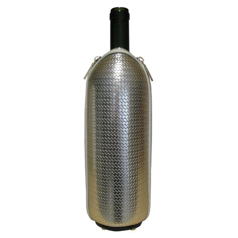Printed Thermal Bottle woven eco leather thermal bottle holder freezerino s model