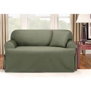 sure fit sofa covers sure fit 174 logan t cushion sofa slipcover 292833