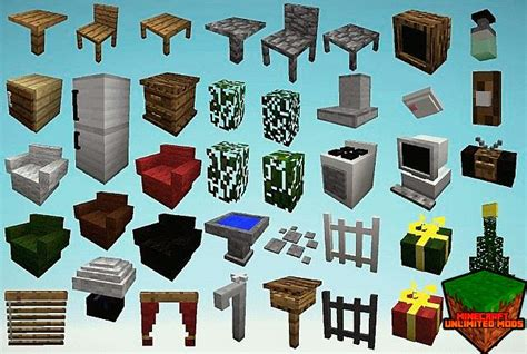 Mr Crayfish Furniture Mod by Descargar Mrcrayfish 180 S Furniture Mod Para Minecraft 1 8