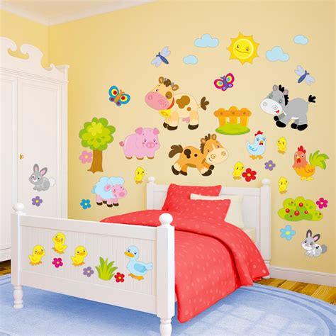 impressionante Muri Camerette Bambini #1: Wall-Stickers-Nella-Vecchia-Fattoria.jpeg
