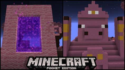 minecraft pe new portal hidden new minecraft pe dimension portal 0 16 0 update