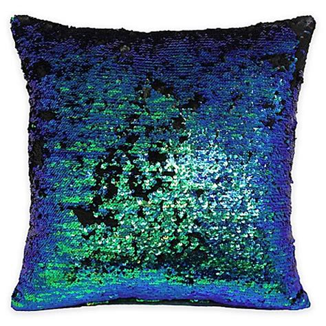 bed bath and beyond decorative pillows mermaid sequin throw pillow bed bath beyond