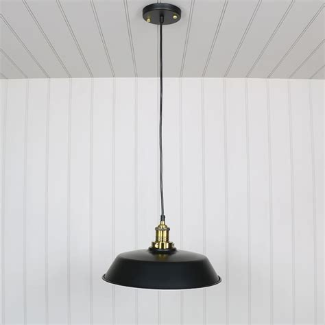 Industrial Metal Pendant Lights Industrial Style Black Metal Pendant Ceiling Light