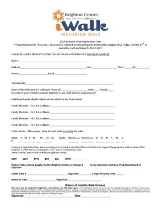c registration 2014 c registration form required 2014 iwalk registration form by katrina cbell issuu