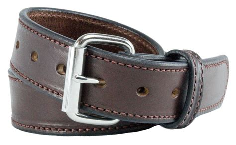 ultimate concealed carry leather gun belt brown stitched