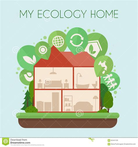 Home Design Outlet Center eco friendly home infographic stock vector image 62441129