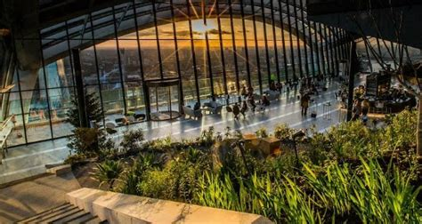 Top Bars In Edinburgh The Sky Garden At 20 Fenchurch Street Monument London