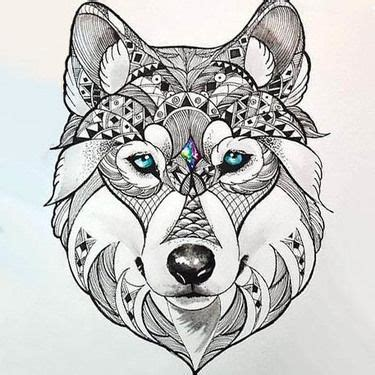 dog head tattoo designs beautiful wolf design